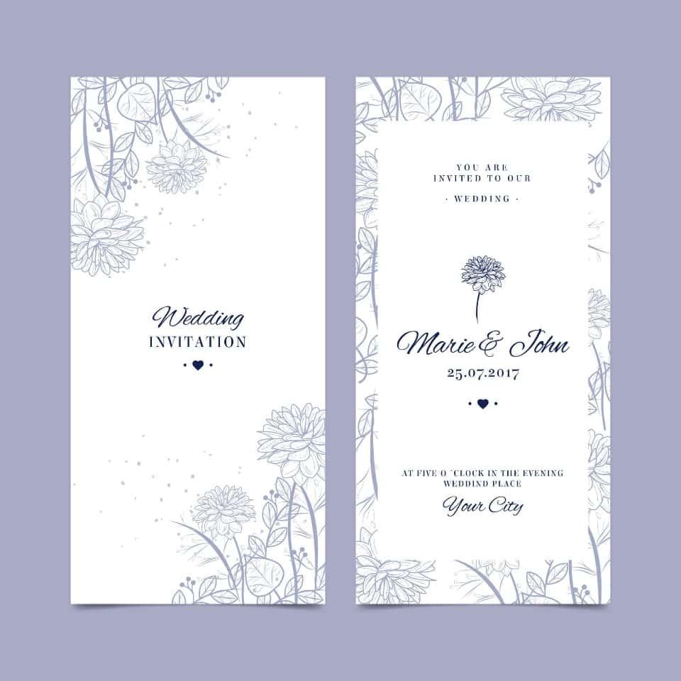 Partecipazioni lilla con fiori