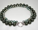 collana in perle verdi