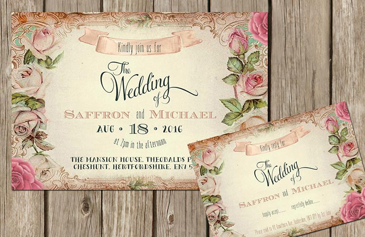 Partecipazioni Matrimonio Shabby Chic On Line : Partecipazioni shabby chic matrimonio da sogno
