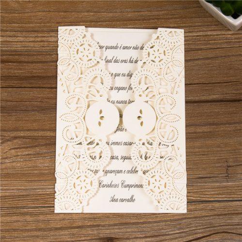 Partecipazioni pizzo Matrimonio Nastro Fiocco