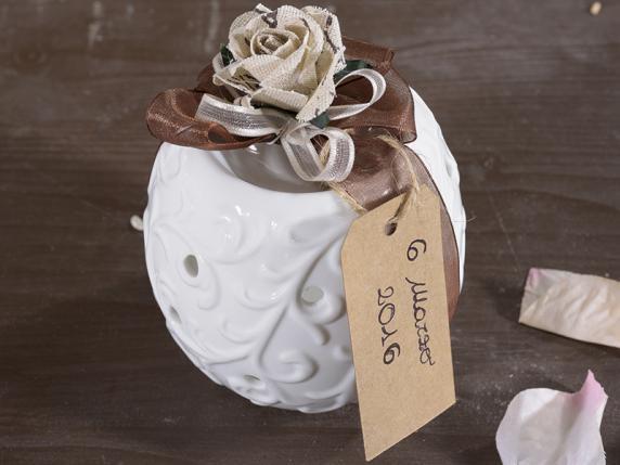 Bomboniera bruciaessenza in ceramica