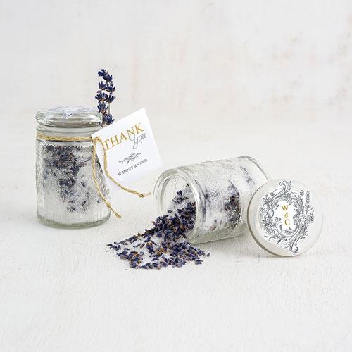 Barattoli confetti con fiori a rilievo