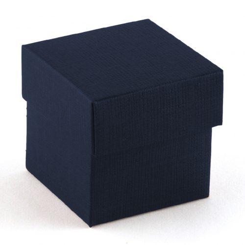 Scatola blu con coperchio