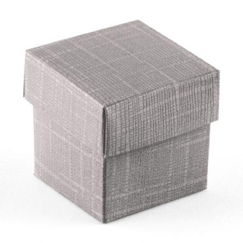 scatola confetti argento