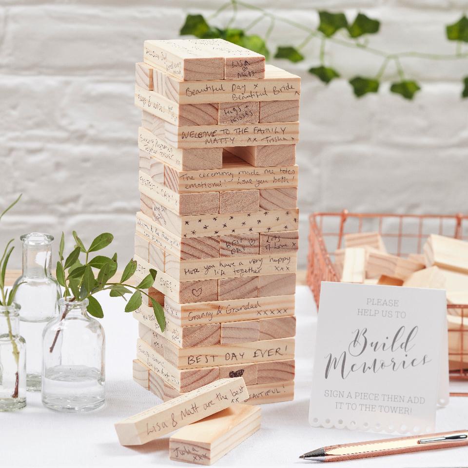 Guest book torre legno