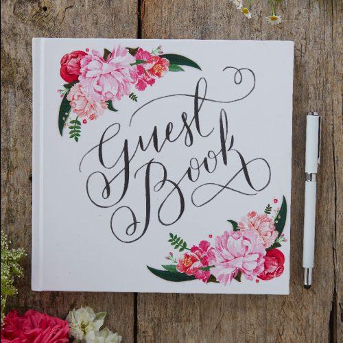 Guest book con fiori