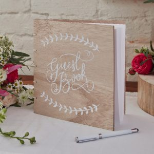 Guest book in legno