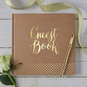 Guest Book kraft e oro