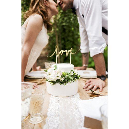 cake topper love oro