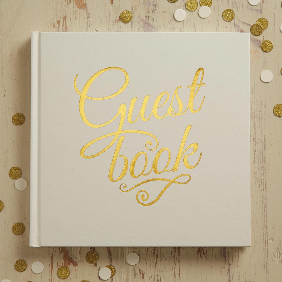 Guest Book avorio e oro