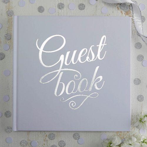Guest Book bianco e argento