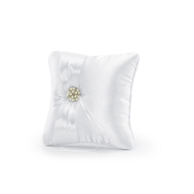 Cuscino portafedi con perle