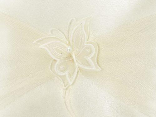 Cuscino portafedi farfalla crema