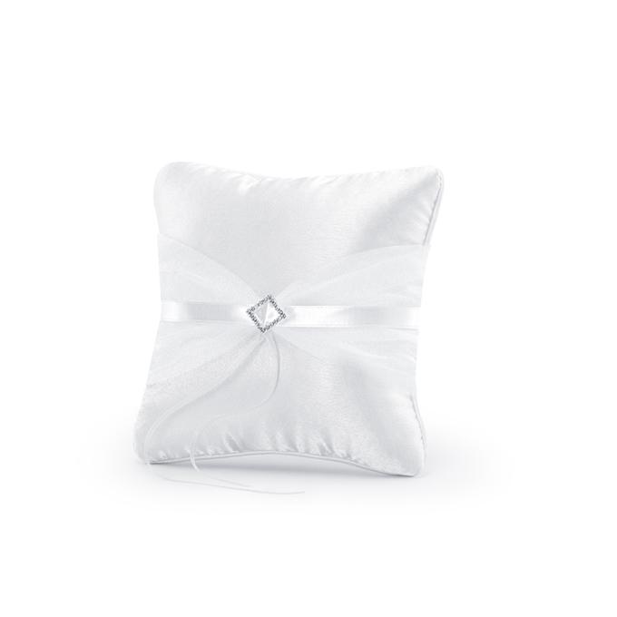 Cuscino portafedi fibbia argento