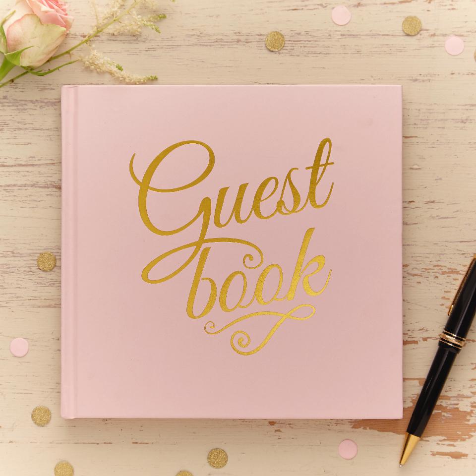 Guest Book rosa pastello