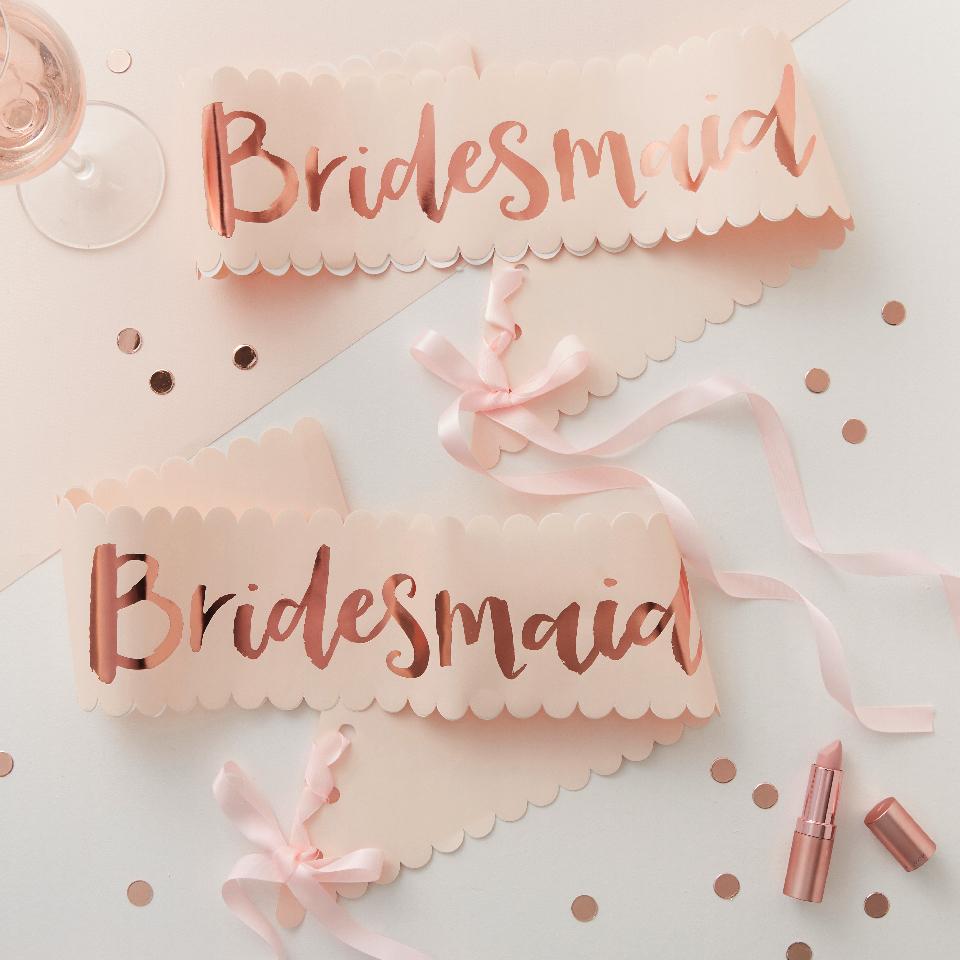 """Fasce addio al nubilato """"bridesmaid"""""""