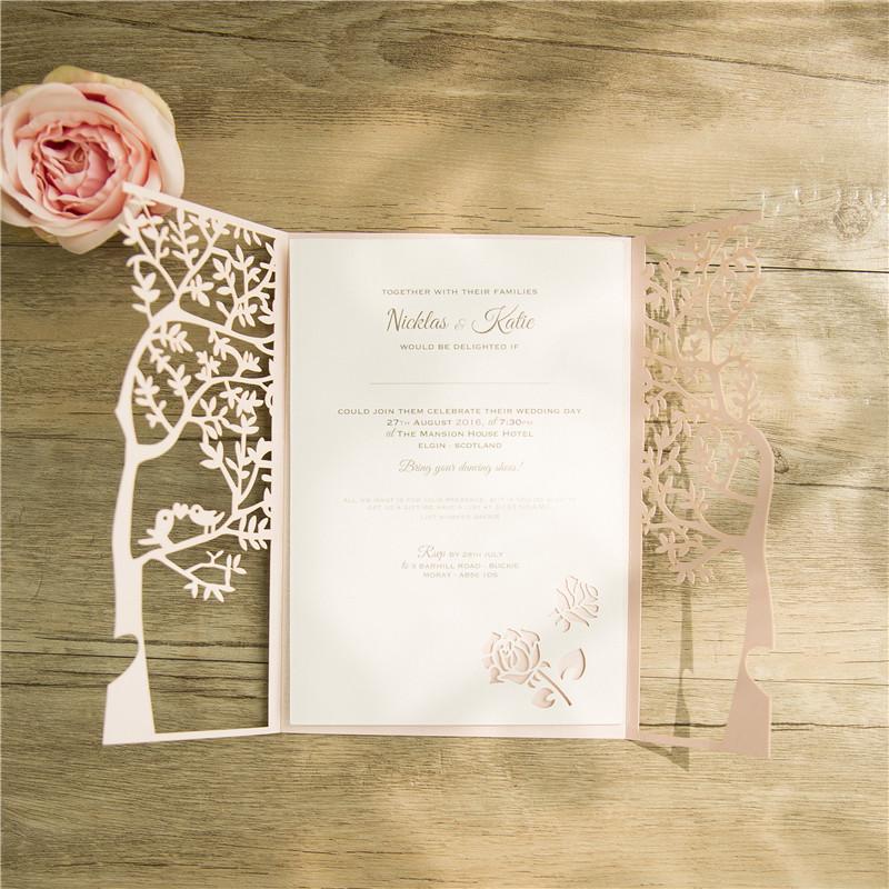 Estremamente Partecipazioni matrimonio albero e cuore - Bomboniere matrimonio  UU79