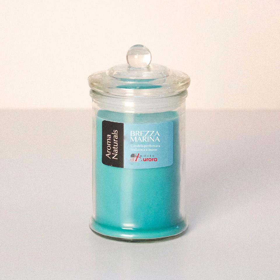 bomboniere candele azzurre brezza marina