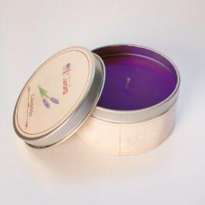 bomboniere candele viola in scatola
