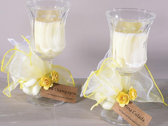 Exceptionnel Bomboniere candele bicchiere vetro - Bomboniere matrimonio  SL99