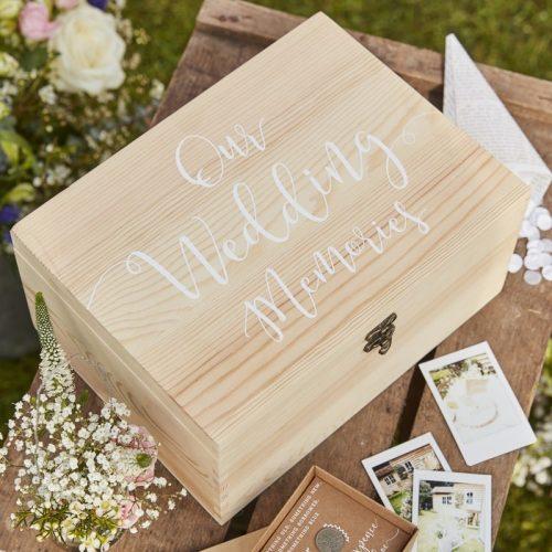baule in legno matrimonio
