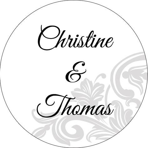 Estremamente Etichetta foglie stilizzate - Bomboniere matrimonio  WA49
