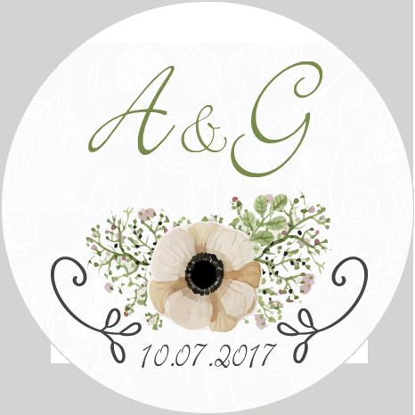 etichette matrimonio fiore