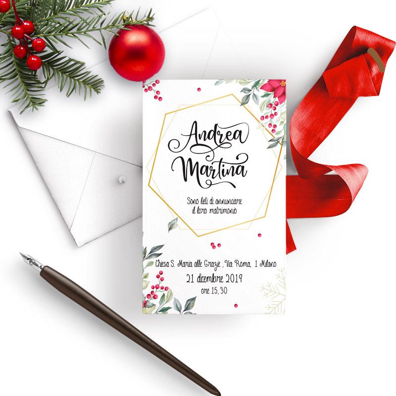 Partecipazioni Matrimonio Natale.Partecipazioni Natale Matrimonio Da Sogno
