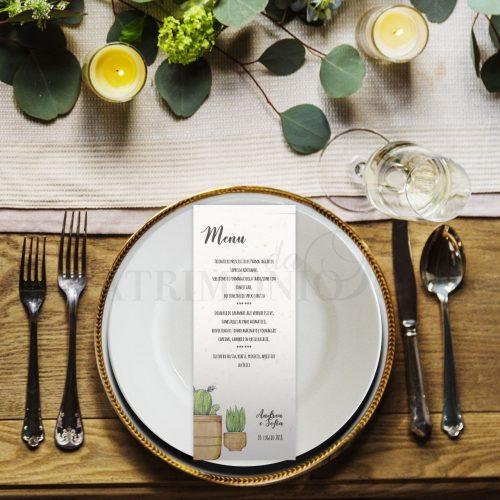 Tableau mariage e menu
