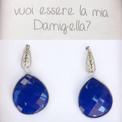 orecchini pietra azzurra