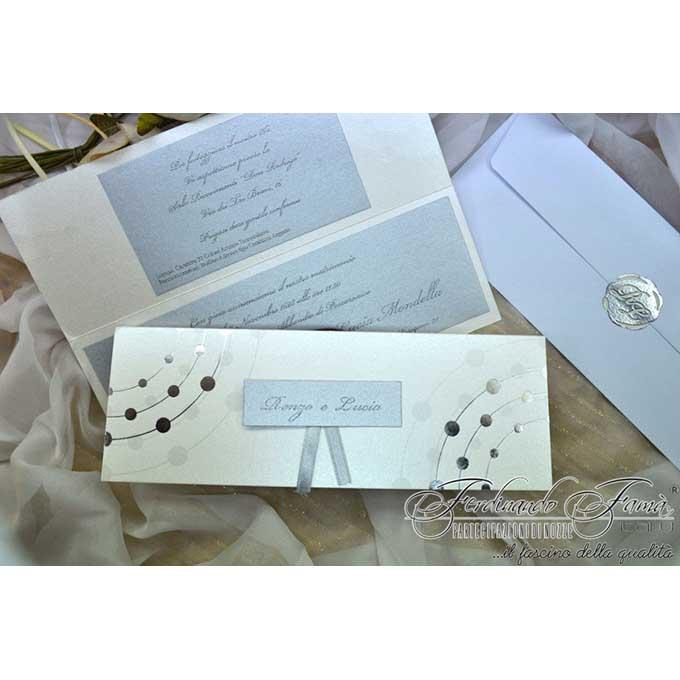 Partecipazioni Matrimonio Rettangolari.Partecipazioni Rettangolari Polvere Matrimonio Da Sogno