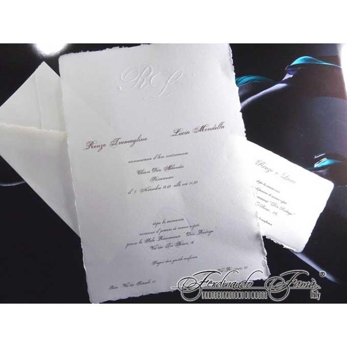Partecipazioni Matrimonio Carta Amalfi.Partecipazioni Semplici Carta A Mano Matrimonio Da Sogno