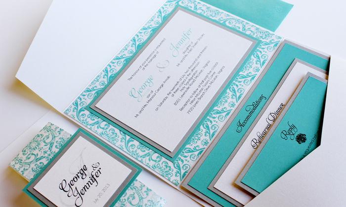 Partecipazioni Matrimonio Color Tiffany.Partecipazioni Tiffany Matrimonio Da Sogno