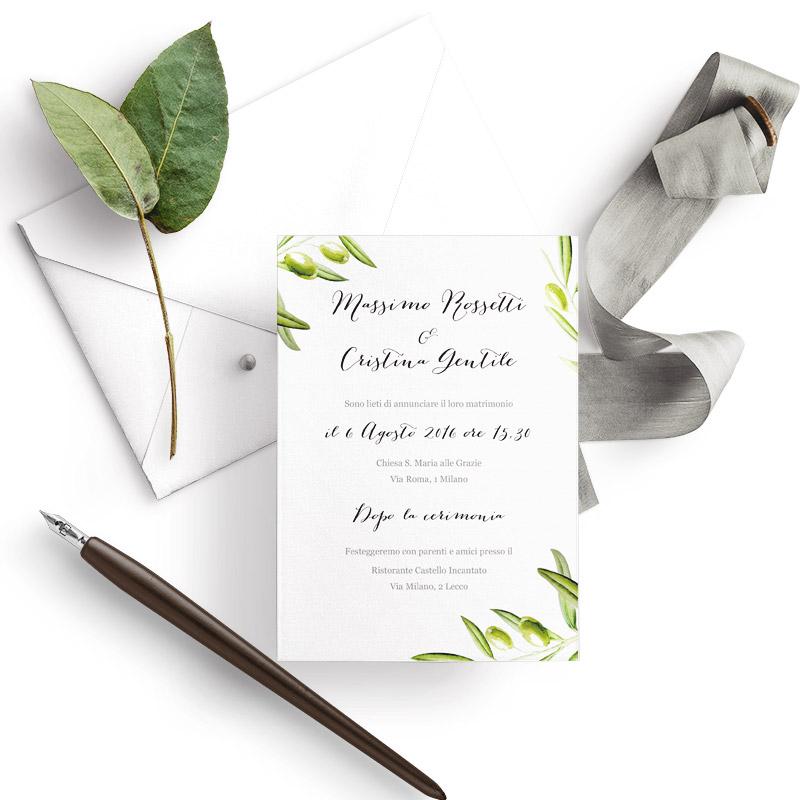 Partecipazioni Matrimonio Natura.Partecipazioni Matrimonio Per Un Matrimonio Immerso Nella Natura