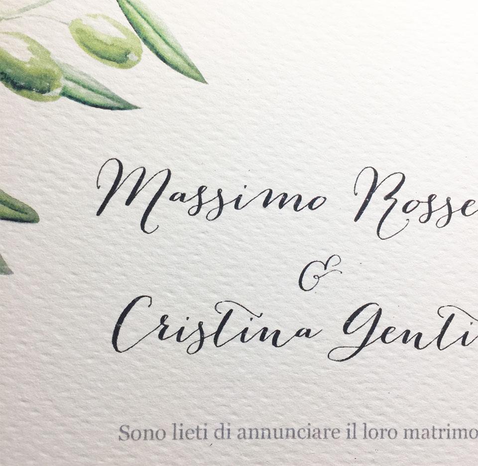 Tema Ulivo Per Matrimonio : Partecipazioni ulivo bomboniere matrimonio