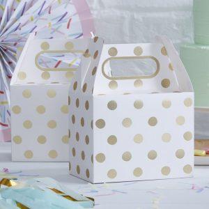 Wedding bag pois oro