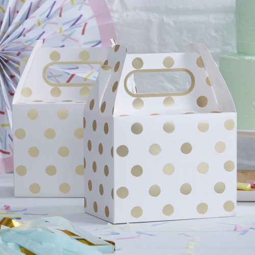 Wedding bag pois oro