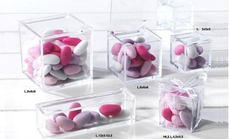 scatole confetti trasparenti