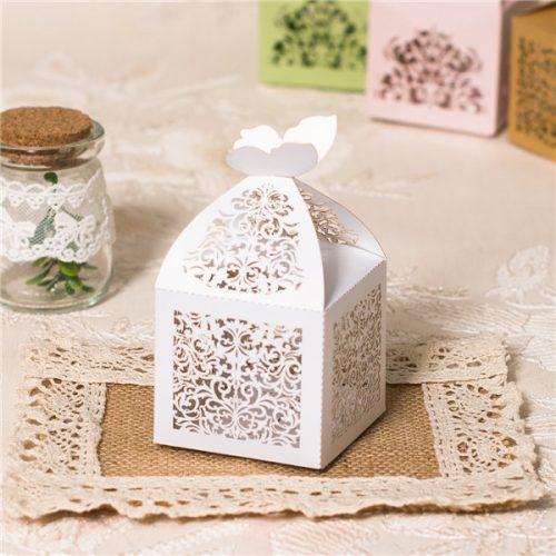 scatoline portaconfetti bianche