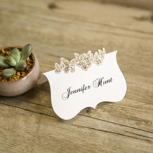 segnaposto matrimonio farfalle